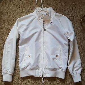 White k-way jacket
